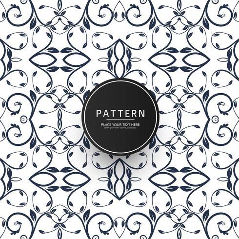Naadloos geometrisch creatief bloemenpatroon vectorontwerp
