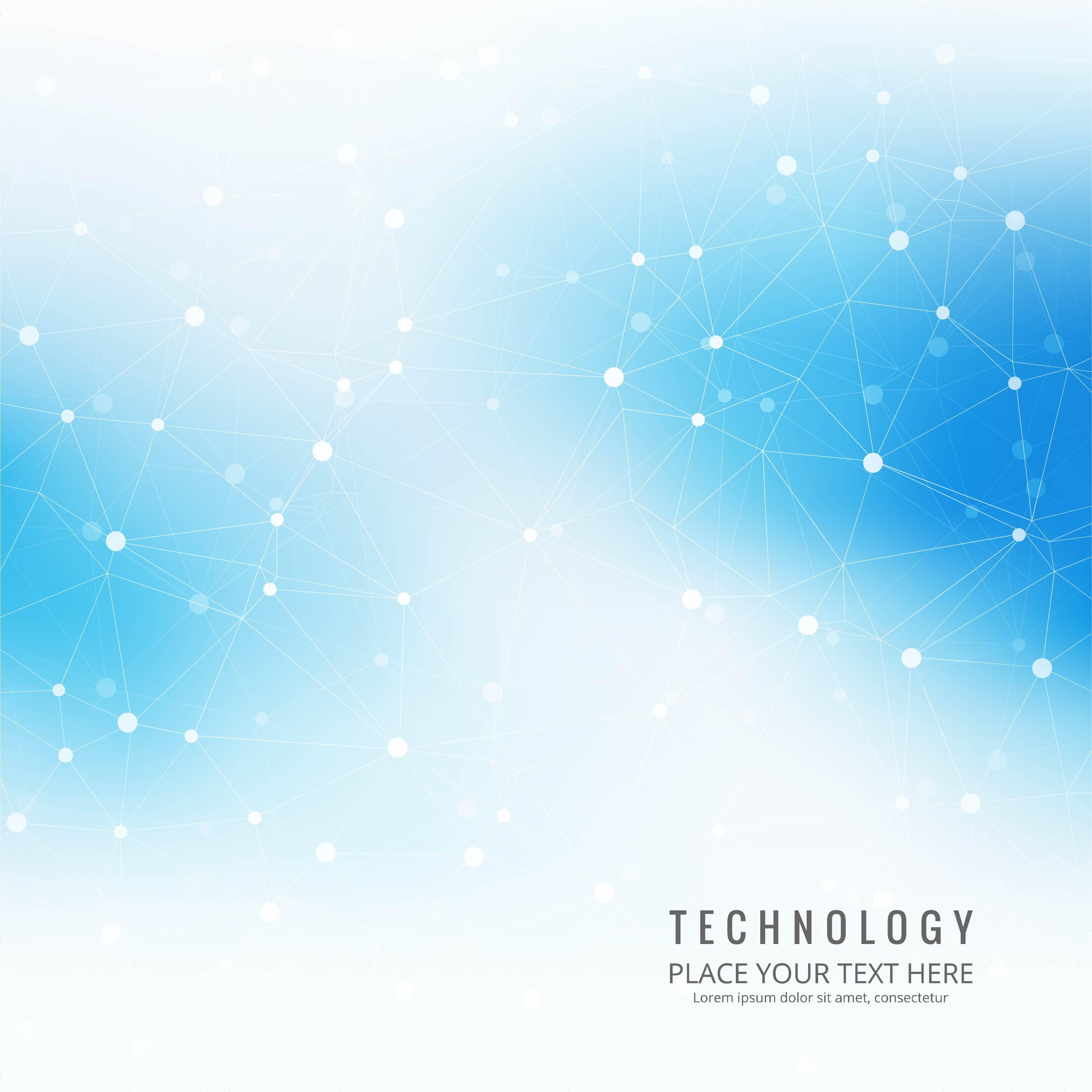 Blue Technology: Blue Technology Background Free Vector Art