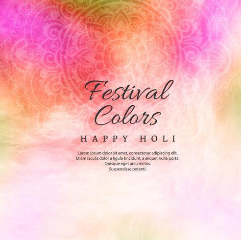 Holi fond coloré avec fond de festival