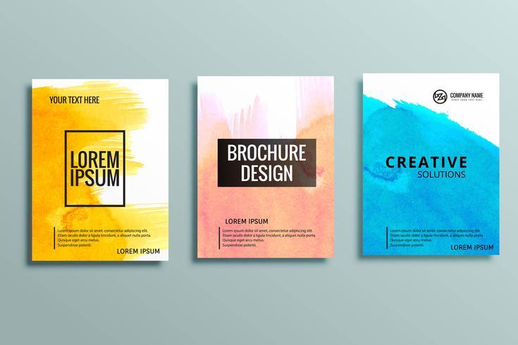 conjunto de folletos de negocios modernos