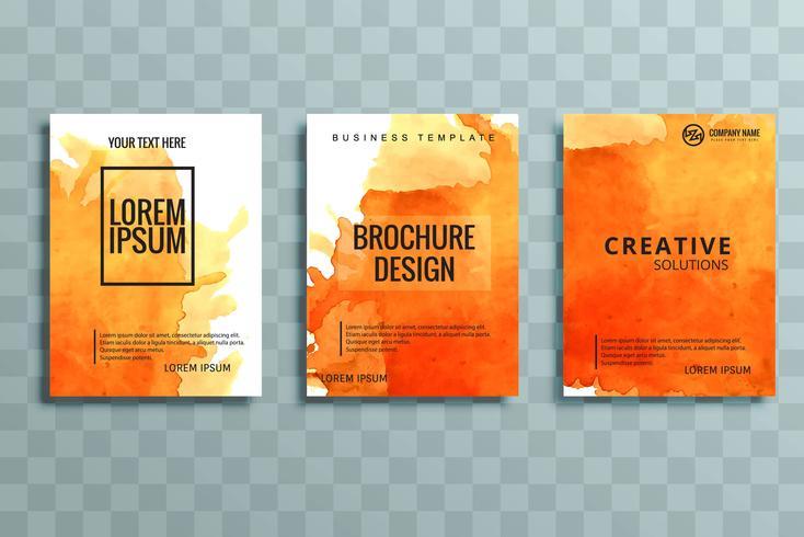 modern colorful business brochure set vector