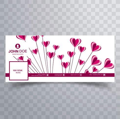 Sammanfattning valentins dag facebook täcke design illustration