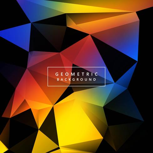 Abstract colorful geometric polygon background vector