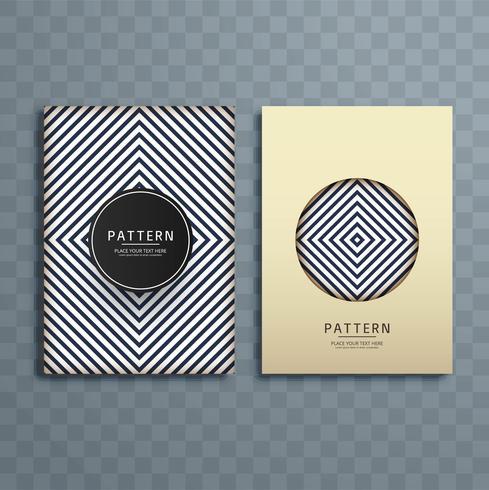 Abstract creative pattern brochure design illustration vector