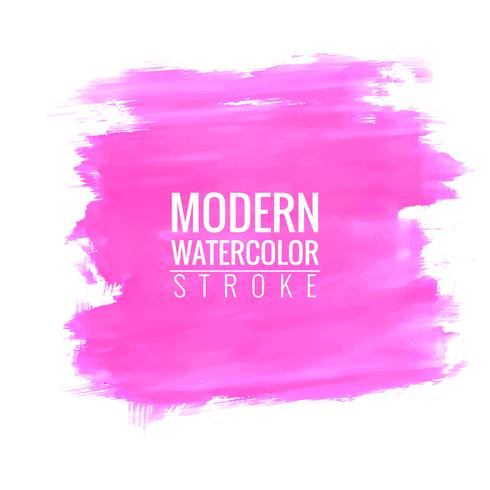 Modern pink stroke watercolor background