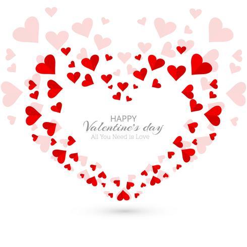 Fundo decorativo de corações do dia dos namorados abstrata