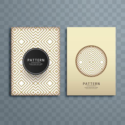 Ilustração de design de brochura padrão retrô abstrata