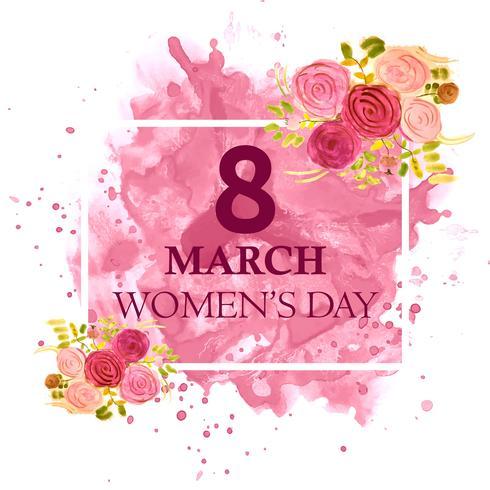 8 de março cartão de saudação. Fundo para o Dia Internacional da Mulher