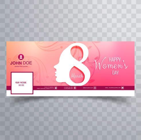 Día de la mujer hermoso diseño de portada de Facebook vector