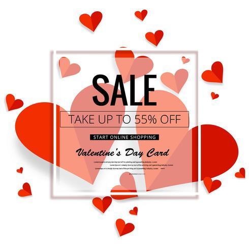 Ilustração colorida do fundo da venda dos corações do dia de Valentim