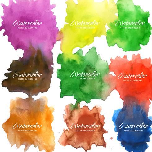 modern färgrik akvarellbakgrund