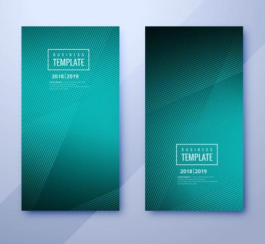 Abstract geometric business template brochure set design