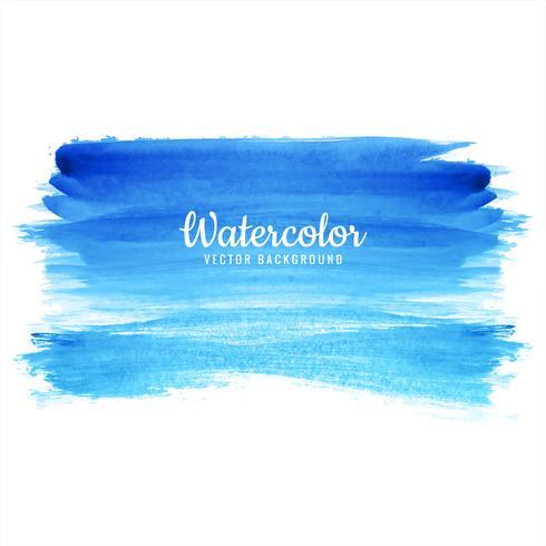 abstracte hand getekend blauwe aquarel lijn achtergrond
