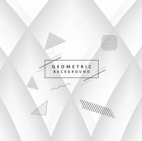 Moderne grijze geometrische achtergrond