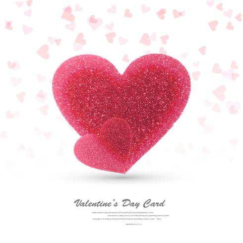 Beautiful hearts valentine's day card design illustration