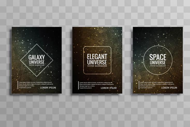 Bella galassia colorato business brochure design set