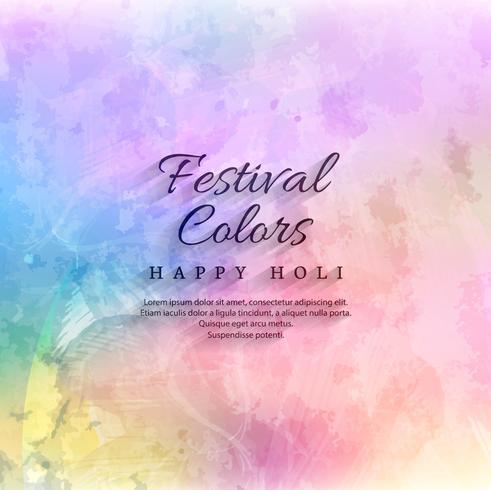 Fond de vecteur joyeux holi festival célébration