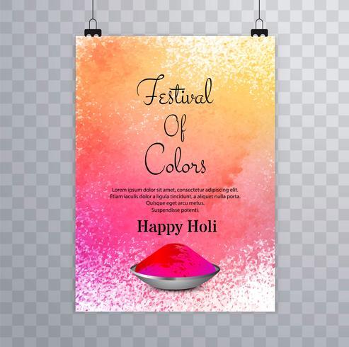 Feliz, holi, festival.holi, folheto, respingo, coloridos, aquarelas, ba