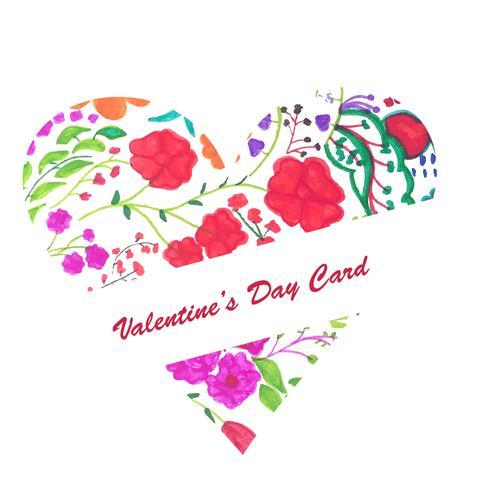 Fondo moderno de corazones de San Valentín día colorido vector