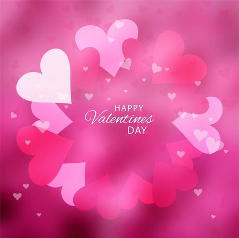 Realistische Valentijnsdag achtergrond vector