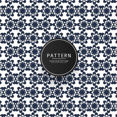 Sem costura padrão floral geométrico vector design