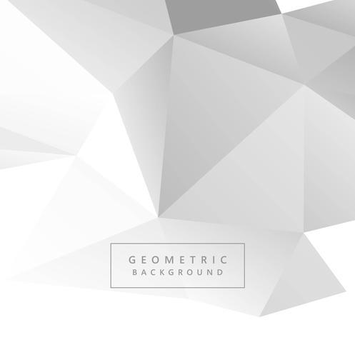 Vetor de fundo geométrico polígono cinza