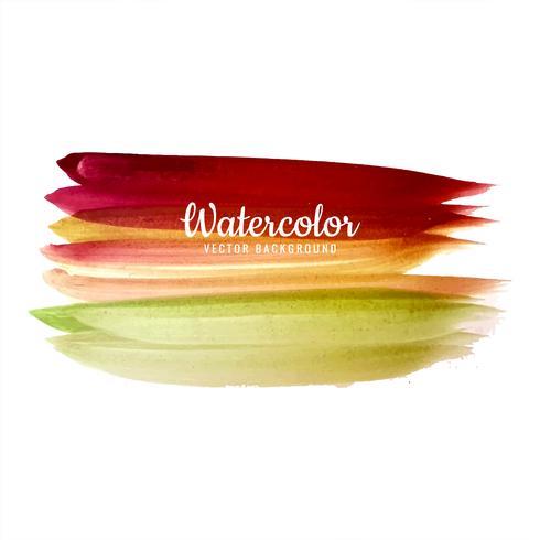Handgjord akvarell färgglad stroke design