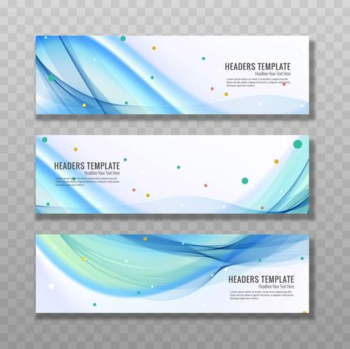 Baners ondulados azuis modernos