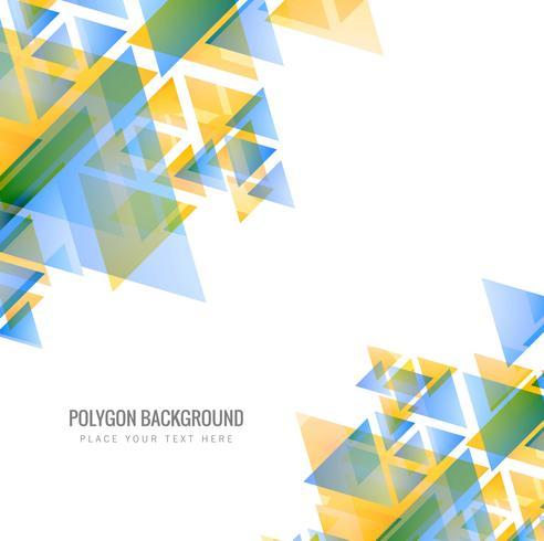 Ilustración de fondo abstracto colorido polígono