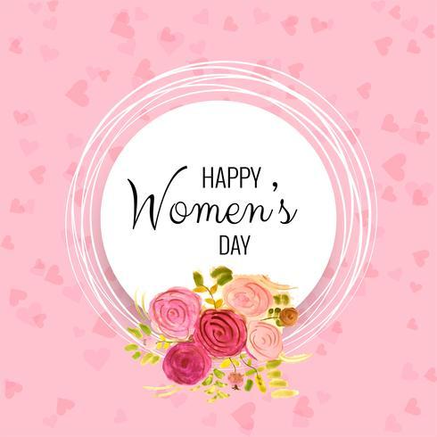 Internationale Gelukkige Vrouwendag - 8 maart vakantieachtergrond