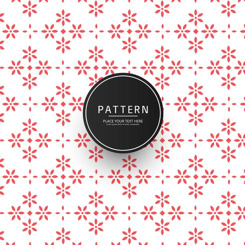 Abstract Bloemen Tegels Naadloos Patroon Herhalend ontwerp
