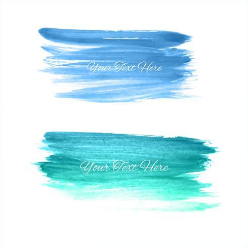 Hand getrokken aquarel beroerte blauwe schaduw achtergrond