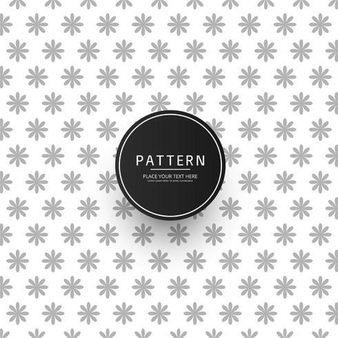 Naadloos geometrisch bloemenpatroon vectorontwerp