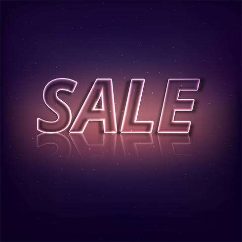 Abstract shiny sale text  background vector