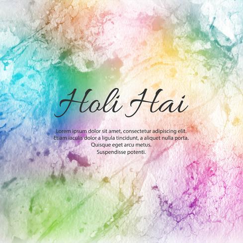 illustratie van abstracte kleurrijke Gelukkige Holi-achtergrond