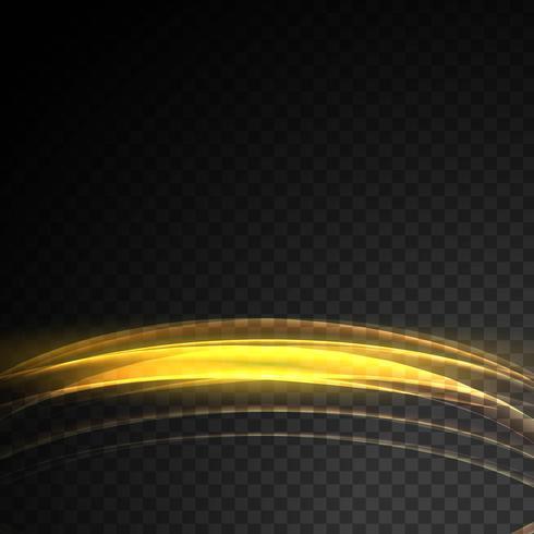 Abstrac incandescent fond de vague de lumière dorée transparente effet