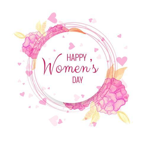 Happy Women's Day viering achtergrond