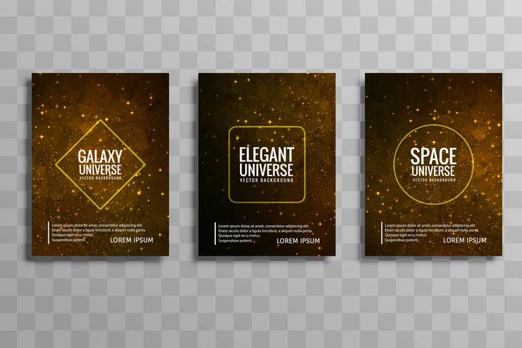 vector de galaxias modernas tarjetas de folleto de vector conjunto vector