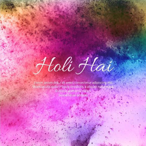 Fondo felice di Holi per il vettore di celebrazione di Festival dei colori