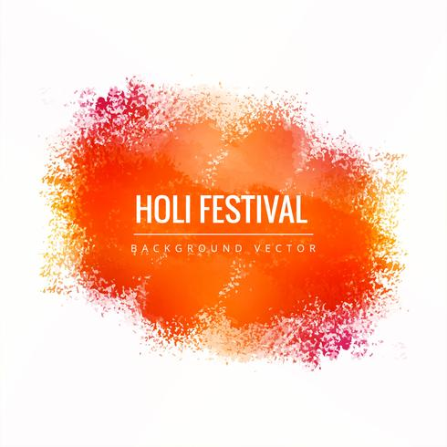 illustration of colorful Happy Holi Background for Festival of C