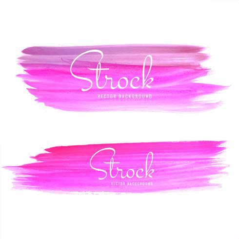 Mooie hand getekend roze aquarel strock set ontwerp