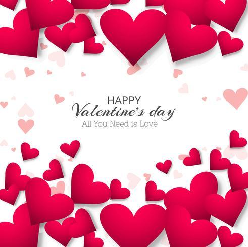 Ilustración de diseño hermoso día de San Valentín corazón