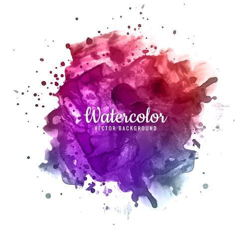 Pincelada abstrata para design e pincéis aquarela coloridos
