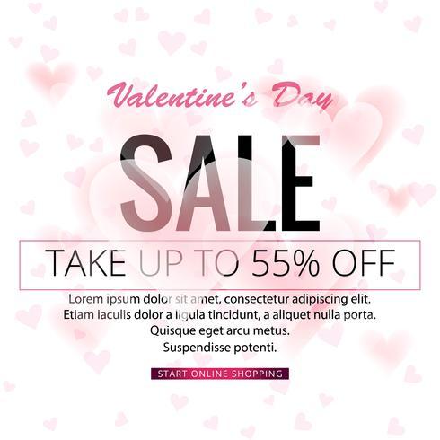 Abstracte Valentijnsdag verkoop achtergrond