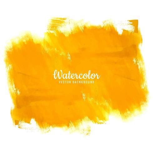 Fondo de acuarela amarillo moderno vector