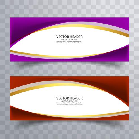 Abstract website banner with wave design background