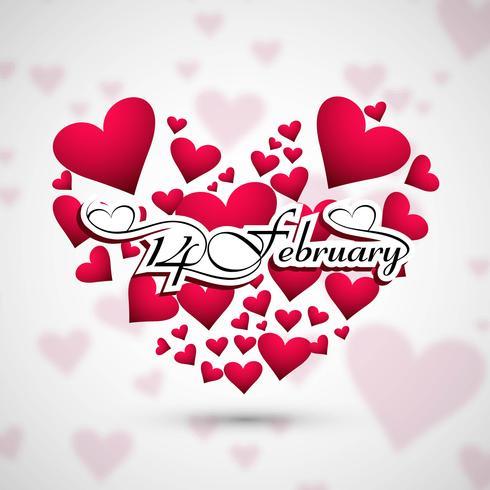 Creatieve Valentijnsdag harten decoratief ontwerp