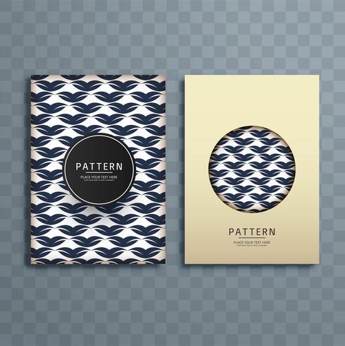 Resumo criativo padrão floral brochura design ilustração