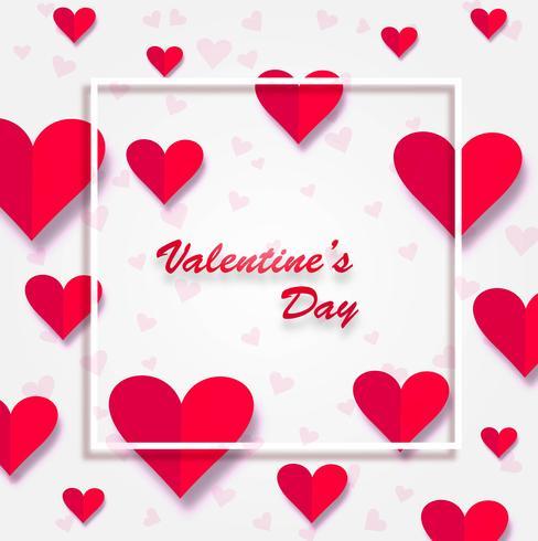 Bella illustrazione della priorità bassa della scheda di giorno del biglietto di S. Valentino
