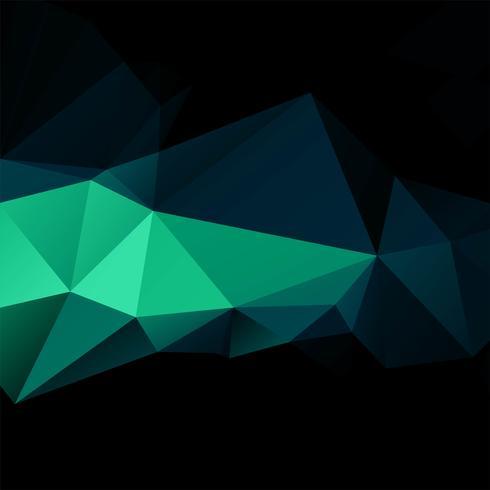 Projeto abstrato colorido polígono escuro